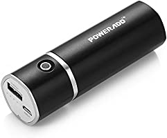 Poweradd Slim 2 5000mAh Cargador Móvil Portátil Batería Externa Power Bank para iPhones (Cable de iPhones no incluido) Smartphones de Android Reproductor de MP3 Cámaras Digitales y Más Dispositivos de 5V - Negro