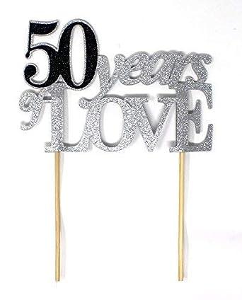 Decoración para tarta de 50 años de amor, 1 unidad, 50 ...