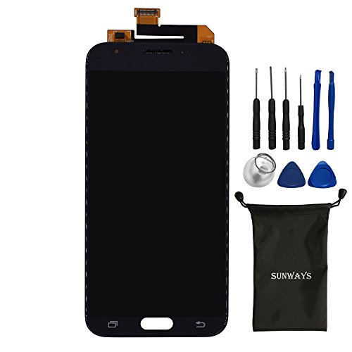 Sunways Compleat Display Touch Digitizer Screen Glass Replacement for Samsung Galaxy Galaxy J3 Emerge J3 Eclipse J3 Prime J327P J327V J327T J327A (Black)[Not Including Camera]
