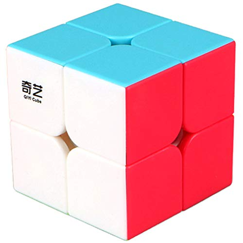 TANCH Speed Cube stickerless 2X2X2 Magic Cube Puzzle Toy for Kids & Adults (colorful)