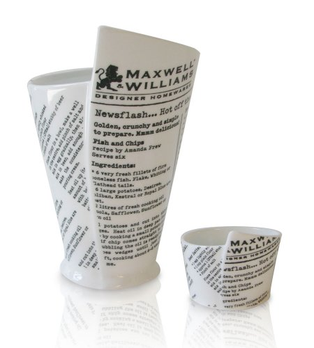 French Fries Ketchup (Maxwell & Williams WBA Newsprint French Fries & Sauce Cups)