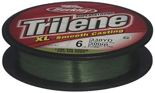 Berkley Trilene XL Filler 0.008-Inch Diameter Fishing Line, 4-Pound Test, 330-Yard Spool, Low Vis Green (Packaging may -