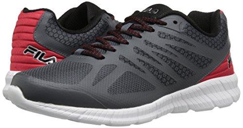 Fila Men's Memory Speedstride Running Shoe, Dark Shadow Red/Black, 10.5 M US