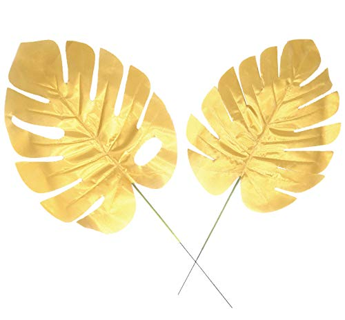 Gold Plastic Garland - D-Seven Gold Palm Leaves with