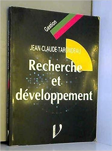 Amazon Fr Recherche Et Developpement Jean Claude