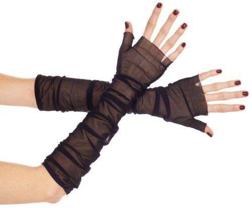 ToBeInStyle Women's Mesh Fingerless Gloves - One Size - Black]()