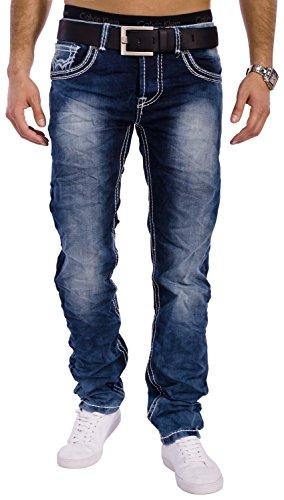 Herren Vintage Jeans Denim Revolution ID1301 Stretch Slim Fit (Gerades Bein)