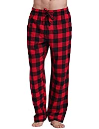 Men's 100% Cotton Super Soft Flannel Plaid Pajama Pants