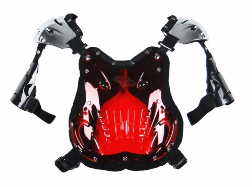 Atv Chest Protector (Vega ProGuard Chest Deflector (Red, Size Adult))