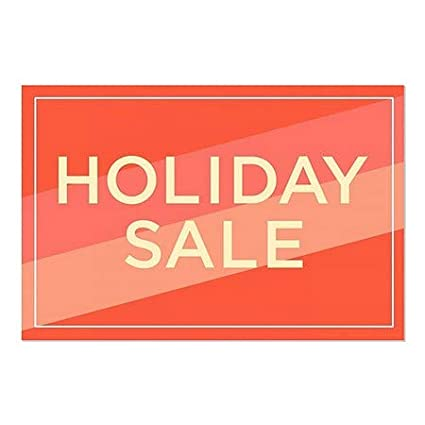 Holiday Sale 5-Pack Modern Diagonal Window Cling CGSignLab 27x18