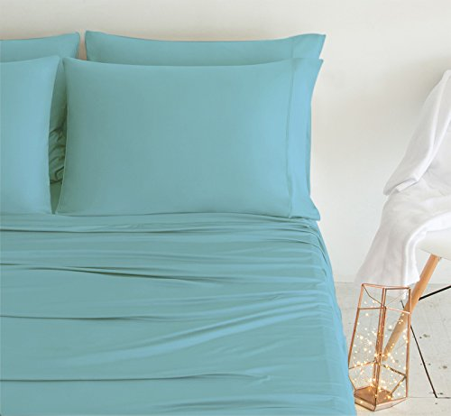 SHEEX LUXURY COPPER Pillowcases (Set of 2), Ultra-Soft, Breathable PRO+IONIC Copper Fabric for a Cool, Dry and Comfortable Night's Sleep, Aqua (Standard)