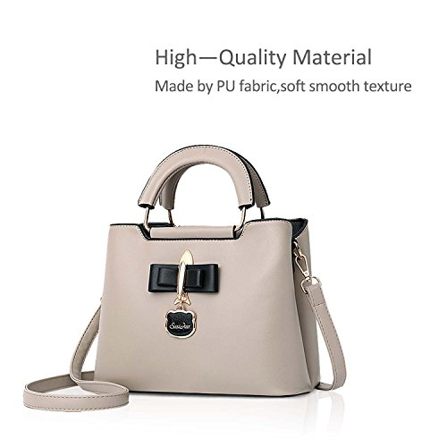 Girls Khaki Bag Bag Casual Hardware 2018 Pendant Fashoin PU Black New Crossbody Women Tote amp;DORIS NICOLE Handbag for Shoulder Bag ZqwvHH