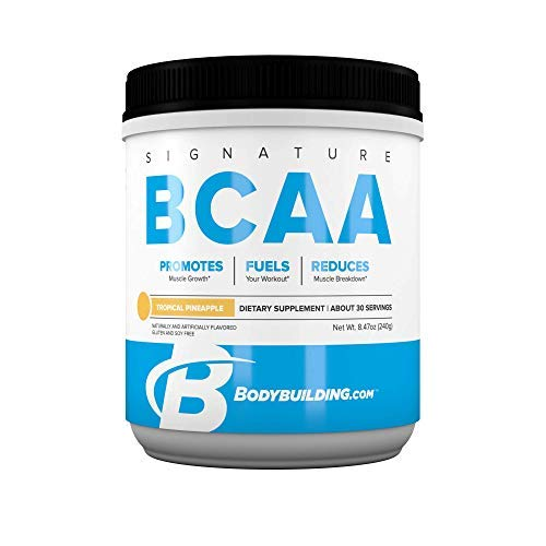 Bodybuilding Signature BCAA Powder | Essential Amino Acids | Nutrition Supplement | Promote Muscle Growth and Recovery | 30 Servings, Tropical Pineapple