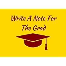 Write A Note For The Grad: Gold / Maroon Spirit Colors Graduation Guest Book For Party. Graduate Advice or Autograph Book Unlined. (Tassel Zone School Colors)