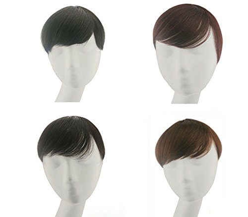 Remeehi Human Hair Top Piece Closures Toupees Clip in Human Hair extensions Hair Topper 2#