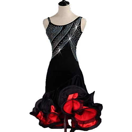 Cha Liscio Da Black Di L Donne Zumba m Vestito Maniche Costumi Abiti Abbigliamento Tango Wqwlf Ballo Per Latini Performance Competizione qUxwXxP6