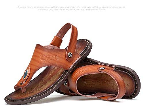 Sandali di estate dei nuovi uomini di estate Fodera impermeabile Base morbida Doppio uso Beach Shoes, marrone, Regno Unito = 7, EU = 40 2/3