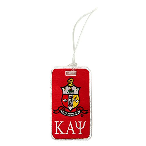 Kappa Alpha Psi Fraternity Crest Embroidered Luggage Tag Bag Nupe ()