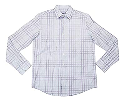Tasso Elba Mens Plaid Button-Down Dress Shirt