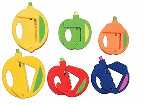 TECH-P Creative Life Food Storage Fruit Pattern Bag Clips Round Sealer 24 Pack-(8 Large+8 Medium+8 Small)