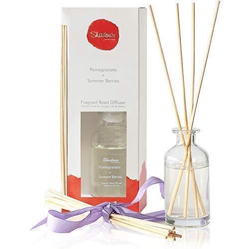 TIYOLE Aromatic Reed Diffuser Sticks Sandalwood Diffuser Room Diffusers with Sticks Stress Relief 125ml (Pomegranate & Summer Berries)