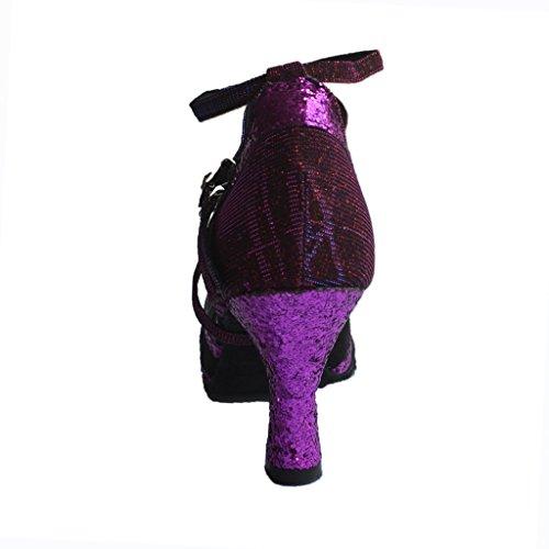 Latin femmes Cm salon Pour de Jig hauts talons 75 À Salsa Sandals Tango Foo Toe Open Chaussures danse 6 98 2 Women de HqPTHS