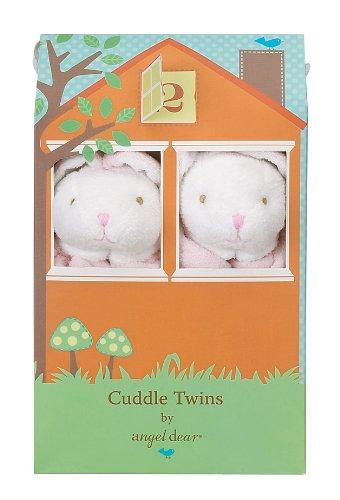 Bunny Ears Set (Angel Dear Cuddle Twin Set, Floppy Ear Pink Bunny)