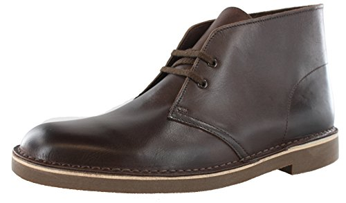 Clarks Men's Bushacre 2 Chukka Boot, Dark Brown Leather, 11 M ()