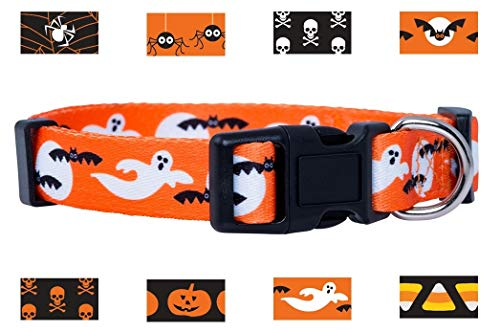 Native Pup Halloween Dog Collar (Small, Ghosts)]()
