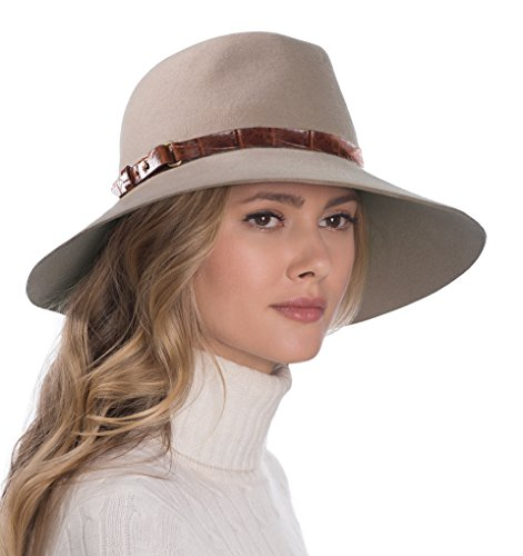 Eric Javits Luxury Fashion Designer Women's Headwear Hat - Fanny - Taupe by Eric Javits