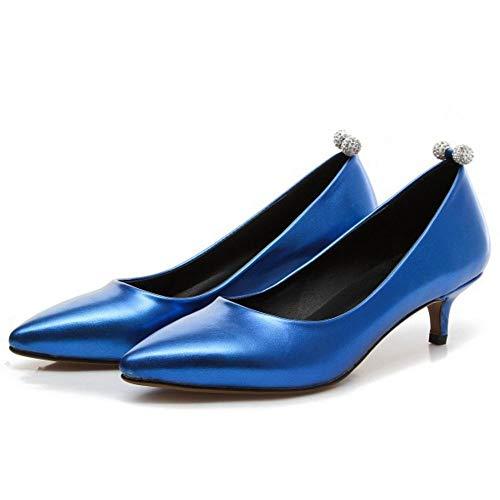 Gattino Beiamina Tacco Donna Scarpe Medio Festa Blu Vestito Col Moda wwqZ0rUP