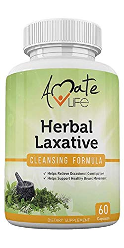 Herbal Laxative Cleansing Formula- All-Natural Laxative Capsules- Help with Occasional Constipation- Promotes Regularity- Probiotics Source- Healthy Digestive System- Non-GMO- 60 Capsules (Best Natural Laxative For Chronic Constipation)