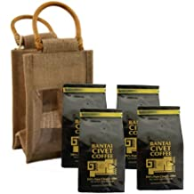 Kopi Luwak 1lb / 456 Grams 100% Pure Wild & Orgranic Civet Coffee Medium Roasted Robusta Whole Beans. Imported from the Philippines Roasted Fresh in the USA