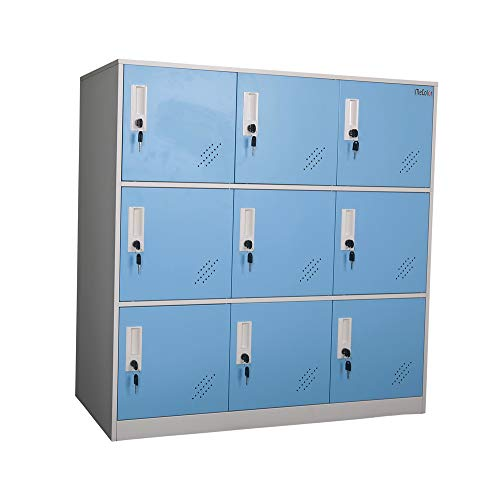 - Shool and Home Locker Organizer Storage for Kids,Playground Metal Shoes and Bag Storage Cabinet (9D Blue)