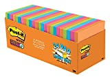 Post-it Super Sticky Notes, Rio de Janeiro Colors, Large Pack, Recyclable, 3 in. x 3 in, 24 Pads/Pack, 70 Sheets/Pad (654-24SSAU-CP): more info