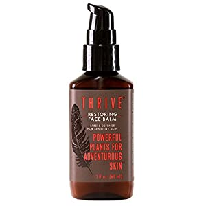 Thrive Natural Face Lotion for Men-Aftershave Balm & Facial Moisturizer for Men with Unique Premium Natural & Organic Ingredients that Keep Skin Hydrated and Prevent Irritation by Thrive Natural Care