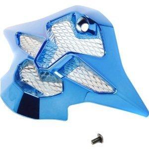 Shoei Sleek Mouth Piece VFX-W MX Motorcycle Helmet Accessories - Chrome Blue