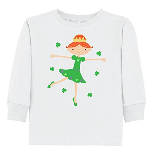 Irish Girl Light T-shirt - inktastic Irish Princess ST Patricks Toddler Long Sleeve T-Shirt 4T White