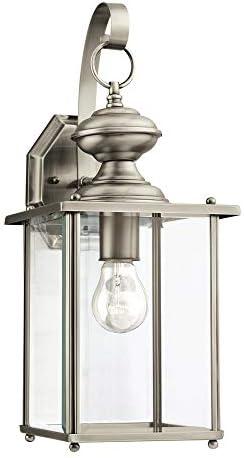 Sea Gull Lighting 8458-965 One 8458-965-One Light Antique Brushed Nickel Lantern, 17 H, Renewed