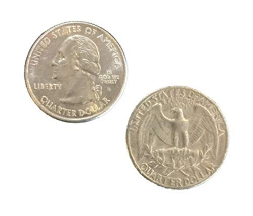 London Magic Works Genuine US Double Sided Quarters with Instructions for Switching The Coins - Heads and Tails