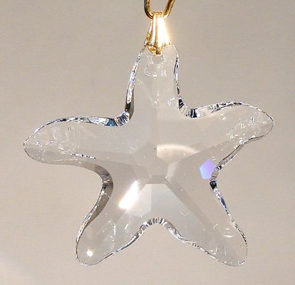 Swarovski 28mm Clear Crystal Starfish (Starfish Austrian Crystal)