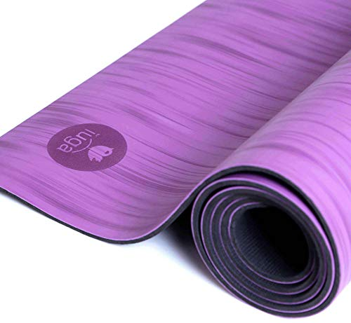 IUGA Pro Non Slip Yoga mat, Unbeatable Non Slip Performance, Eco Friendly and SGS Certified Material, Odorless Lightweight and Extra Large Size, Free Carry Strap (Purple Metetor)