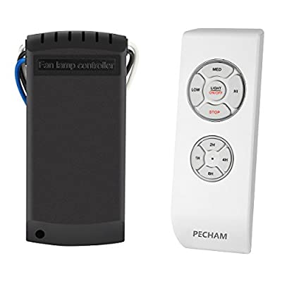 PECHAM F2 Universal Ceiling Fan Lamp Remote Controller Kit & Timing Wireless Remote Control for Ceiling Fan , Scope of Application [Home/office/ hotel /the club / display hall /restaurant](White)