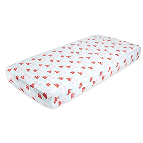 ideal baby by the makers of aden + anais crib sheet, road trip (Sheet Fitted Aidan)