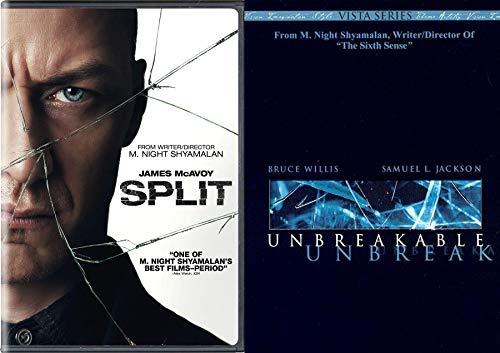 Mind-Shatter Unbreakable Split DVD set M. Night Super Double Feature Movie