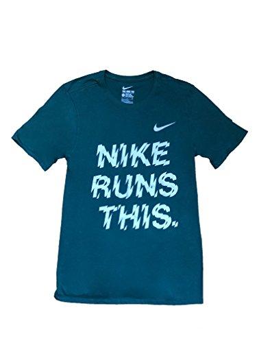 Nike Männer Nike läuft dieses Grafik T-Shirt Schwarzgrau