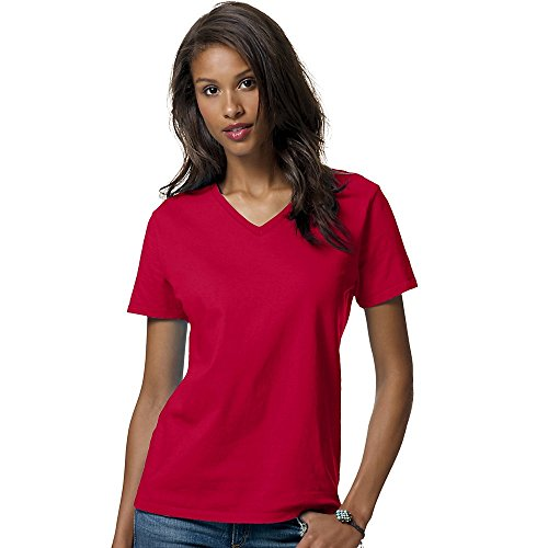 Hanes Relaxed Fit Women's ComfortSoft® V-neck T-Shirt Size:Medium Color:Deep - Maryland In Clothing Outlets