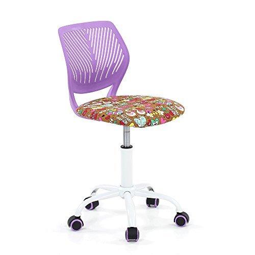 IKAYAA Adjustable Fabric Teen Child Desk Chair Swivel Comput