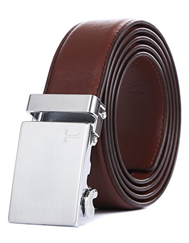Tonywell Belt Men's Leather Ratchet Belt, Removable Buckle … (One Size:32