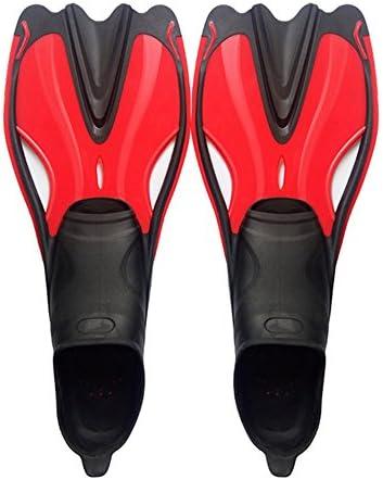 ダックウェブ ユニセックス水泳シュノーケリング水生活動のためのダイビングフィン水泳レッスン ダイビングフィン (色 : Red, Size : L)